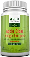 Apple Cider Vinegar – 180 Vegan Capsules not Tablets or Liquid – 1120mg Daily Dosage aE Plus Added Turmeric Cayenne and Ginger aE Full 90 Day Supply aE Made in The UK Estimated Price : £ 14,97