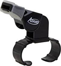 ADAMS USA Oct Cushioned Official/Referee Finger Whistle Black, Standard Size