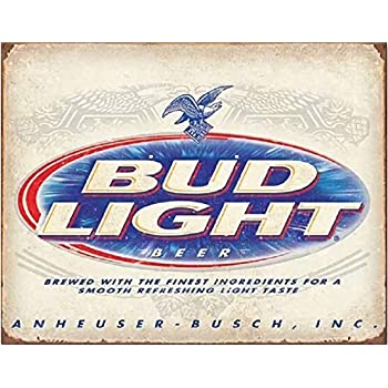 """INGREEN Metal Tin Sign, Funny Vintage Sarcastic Man Cave Signs and Wall Decor Plaque Poster for Cafe Bar Bud Light Beer, 12"""" x 8"""""""