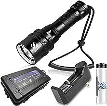 Bright Diving Flashlight IP68 Hoogste waterdichte beoordeling Professioneel duiklampje aangedreven door 18650 batterij met...