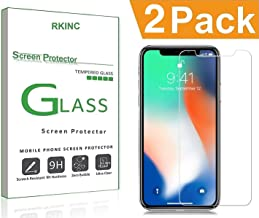 Bundle of 2, RKINC forApple Iphone X XSScreen Protector, Crystal Clear Tempered Glass Screen Protector [9H Hardness][2.5D Edge][0.33mm Thickness][Scratch Resist] forApple Iphone X XS