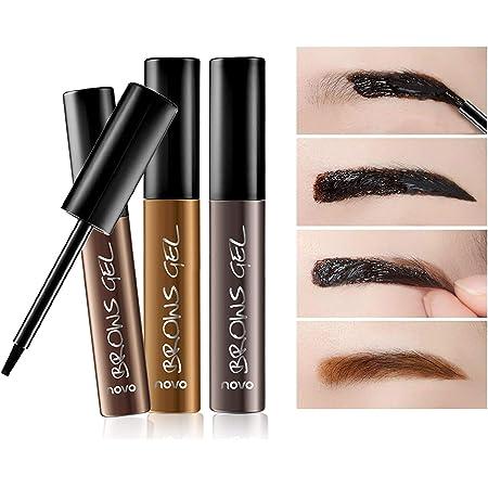 Makeup Eyebrow Gel Peel Off Eyebrow Peel Off Tint Waterproof Long Lasting Tattoo Eyebrow, Natural and Elegant Brow Color 1Pcs(Dark brown)