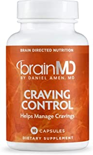Dr. Amen brainMD Craving Control - 90 Capsules - Reduces Hunger for Sweets, Supports Blood Sugar & Insulin Levels, Healthy Weight Management - Gluten-Free - 15 Servings
