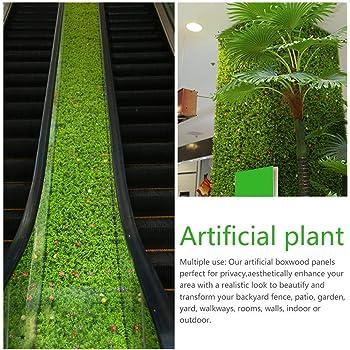 Comaie kaersishop Artificial Boxwood Hedge Plant Verdes Paneles, Verdor Ivy Privacidad Cerca Paisajismo Proyección Muro Verde, para jardín en el hogar Balcón Decoración Interior al Aire Libre: Amazon.es: Hogar