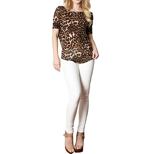 58a9d2ec8d2 Simply Savvy Co USA - Soft Stylish Comfort Fit Leopard Animal Print Top
