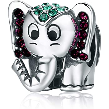 2 ELEPHANTS TO FIT EUROPEAN BRACELET  SILVER PLATED  AND SIZE BEING 20 x 14mm