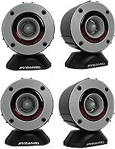 "Pyramid TW28 3.75"" 600W Super Car Audio Horn Bullet Aluminum Tweeters"