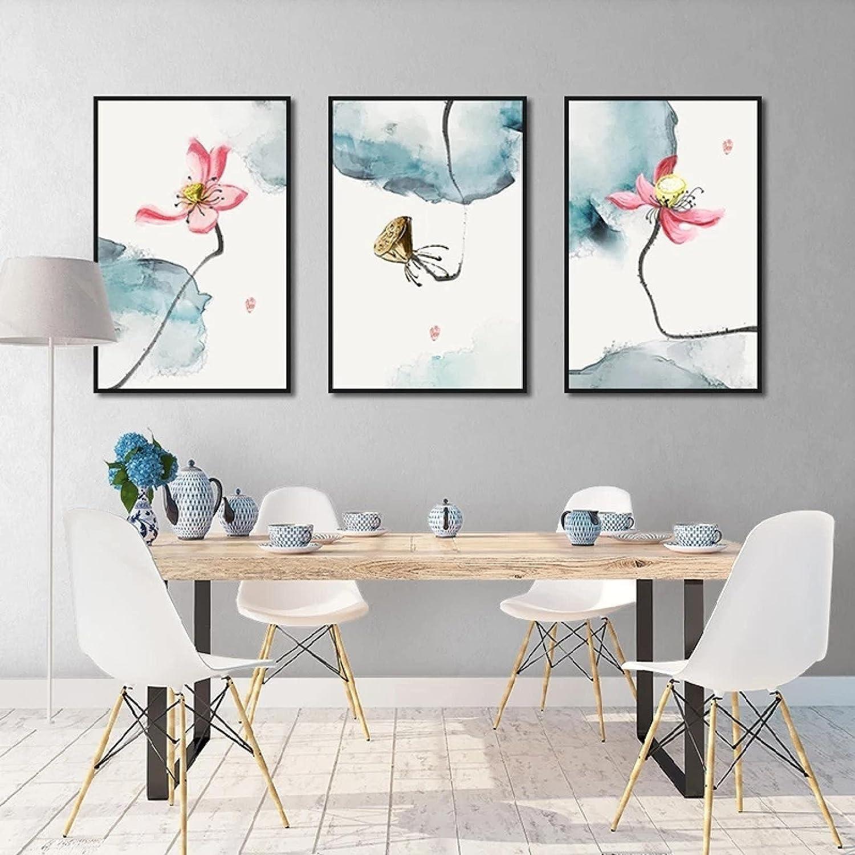 Pink Lotus Poster Super New sales Special SALE held Elegant Canvas Flower Painti Hd Wall Art Print