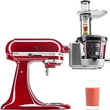 KitchenAid KSM1JA Masticating Juicer and Sauce Attachment, 1L, Silver