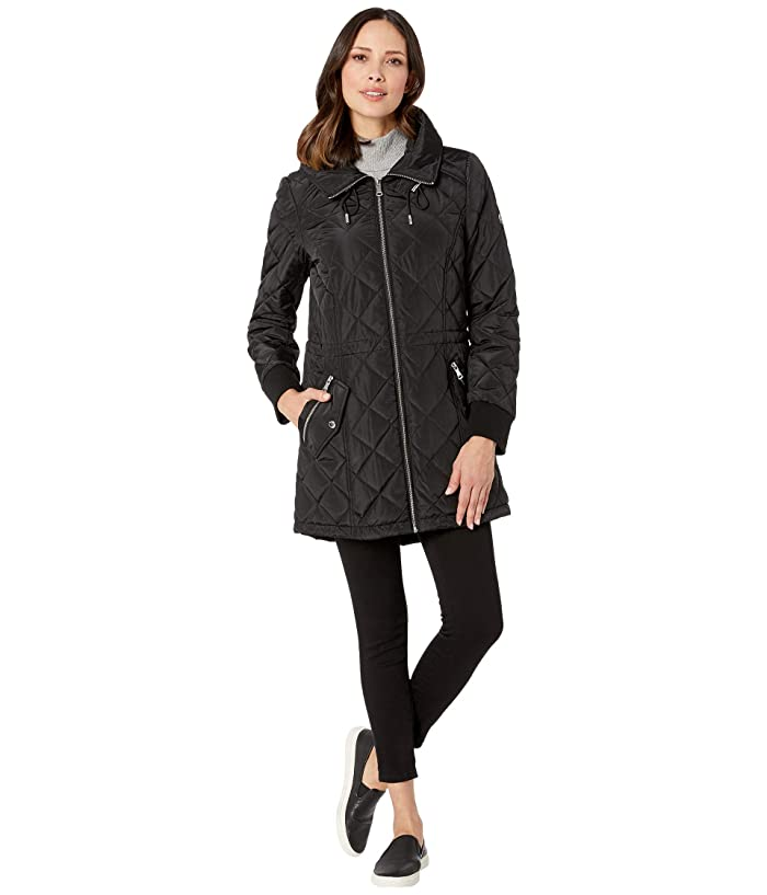Calvin Klein Anorak Large Diamond Body Quilt (Black) Women