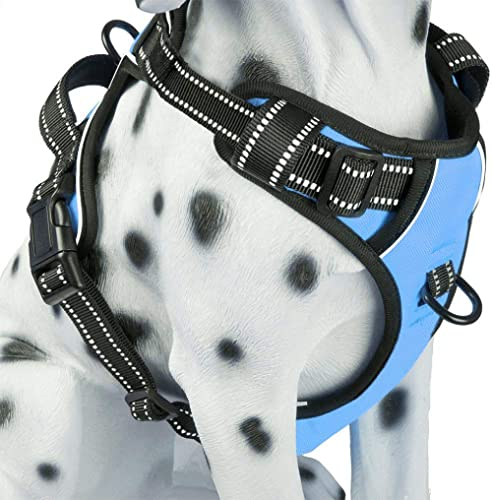 PoyPet No Pull Dog Harness, Reflective Vest Harness with 2 Leash Attachments and Easy Control Handle for Small Medium...