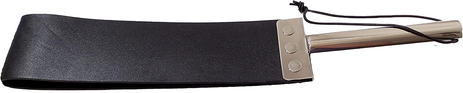Cuffstore Leather Spanking Strap with Steel Ranking TOP15 Handle 40% OFF Cheap Sale Stainless