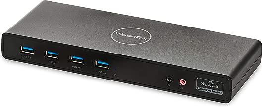 VisionTek VT4000 Universal Dual 4K Laptop Monitor Docking Station, Dual UHD Video, HDMI, DisplayPort, USB 3.0, USB-C, RJ45 Ports, for Mac & Windows (901005)