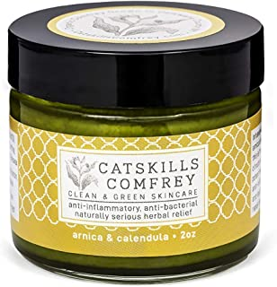 Catskills Comfrey: Arnica & Calendula, 2oz - trifecta of nature's most potent healing medicinals; anti-infl...