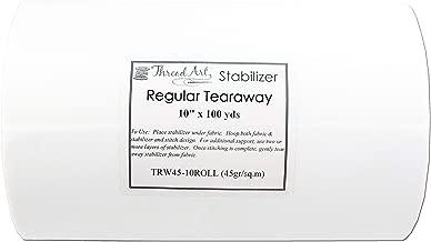 Threadart Tearaway Embroidery Stabilizer | 1.6 oz Medium Weight | 10