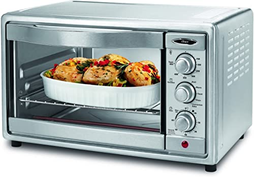 high quality Oster popular Convection Toaster Oven, 6 Slice, Brushed Stainless Steel outlet online sale (TSSTTVRB04) outlet sale