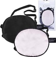 eZAKKA 2 قطعه ابریشم Eye Patch Elast Eye Patch Eye قطعه چشم تنبلی برای بزرگسالان چشم تنبلی Amblyopia Strabismus ، سیاه و صورتی