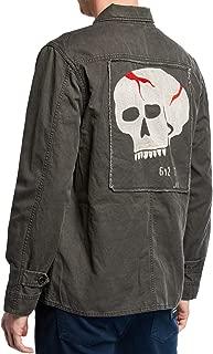 John Varvatos Star USA Men's Perry Skull Patch 4 Pocket Field Jacket