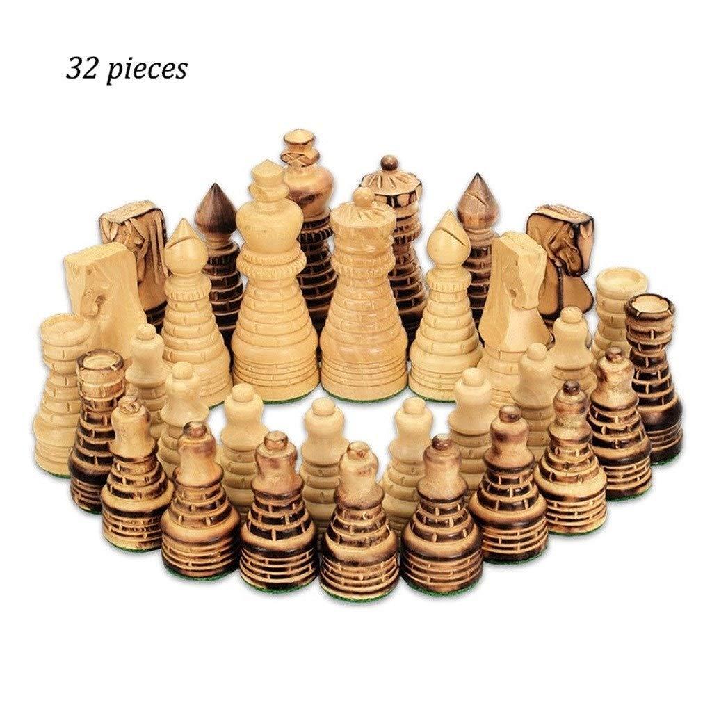 LF stores Ajedrez Juego de Piezas de ajedrez Juego de ajedrez de Madera Ajedrez estándar para concursos internacionales Juguete de Regalo Juegos de Mesa: Amazon.es: Hogar