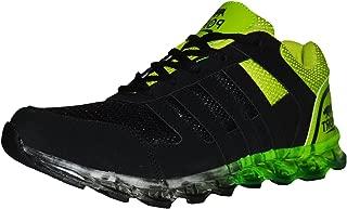 Port Men's SepRuter PU Black Green Running Sports Shoes