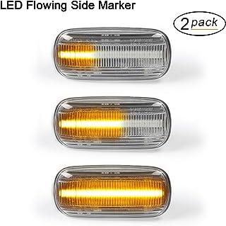 OZ LAMPE LED Dynamische LED Seitenblinker Blinker 2 X Bernstein 18 SMD mit Nicht Polarität CAN Bus Fehlerfrei OE Buchse klar Für A3 S3 8P A4 S4 RS4 B6 B7 A6 S6 RS6 C5 C6 A8 D3 TT Mk2 8J Roadster