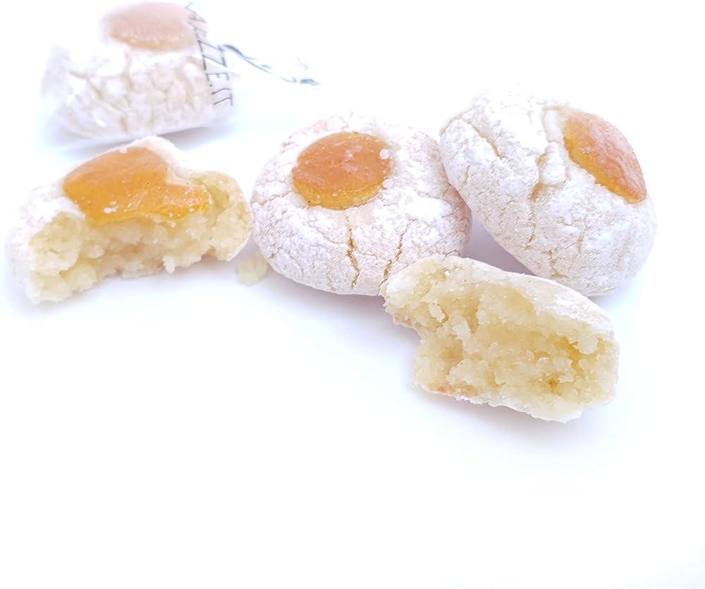 Rarezze,paste di mandorla siciliane all`arancia di sicilia (box gr.400)