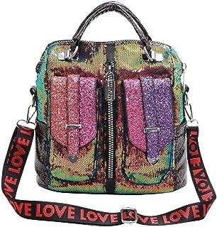 Women Backpack Girls Bling Sequins Shoulder Bags Handbag for Daily School Travel