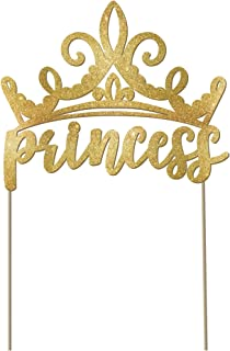 """Disney Princess"" Glitter Gold Cake Decorating Pick, 5"" x 6"""