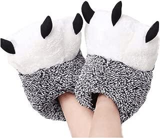 Zapatillas de casa de Felpa Suave Unisex Zapatillas de Garra de Oso Zapatos de Garra de Disfraz de Animal