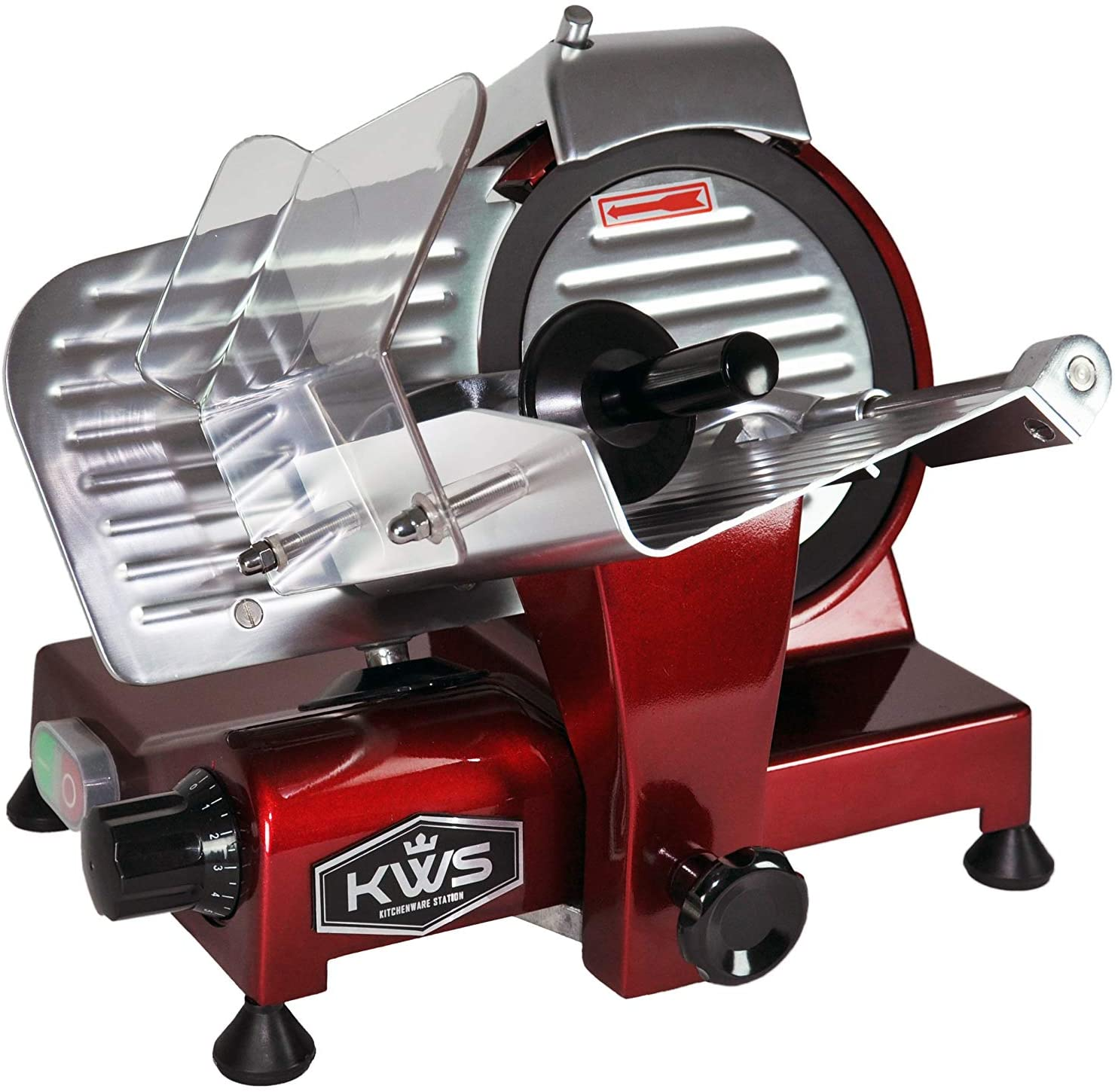 KWS MS-6RT Premium 200w Electric Meat Slicer Teflo in Don't miss the campaign Now on sale 6-Inch Red