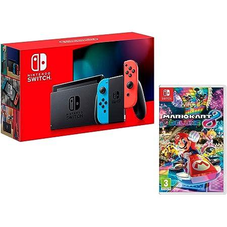 Nintendo Switch Consola 32Gb Azul/Rojo Neón + Mario Kart 8 Deluxe