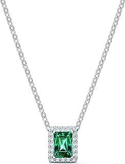 Swarovski Collana Angelic Rectangular, Verde, Placcato Rodio