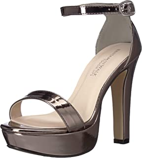 Touch Ups Women's Mary Heeled Sandal, Pewter, 6.5 M US