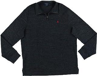 Mens Big & Tall Estate Cotton 1/4 Zip Pullover Sweater