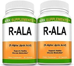 2 Bottles R-ALA R-Alpha Lipoic Acid 200mg 180 Total Capsules KRK Supplements