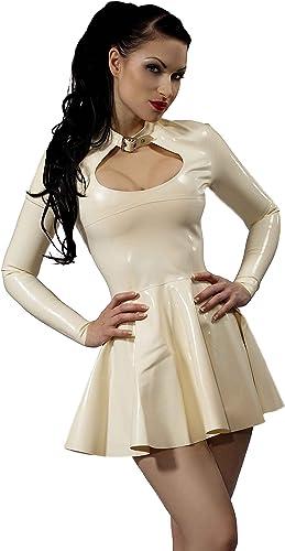 Burlan De Vestido De Látex De Caucho. blanco