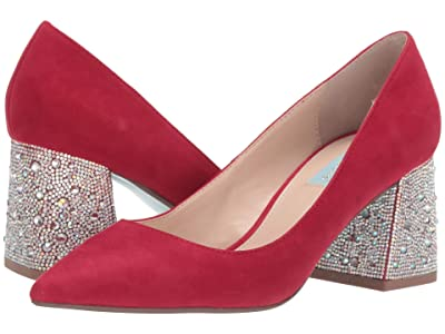 Blue by Betsey Johnson Paige Pump (Red Suede) Women