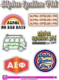 Alpha Epsilon Phi - Sticker Sheet - Retro Theme