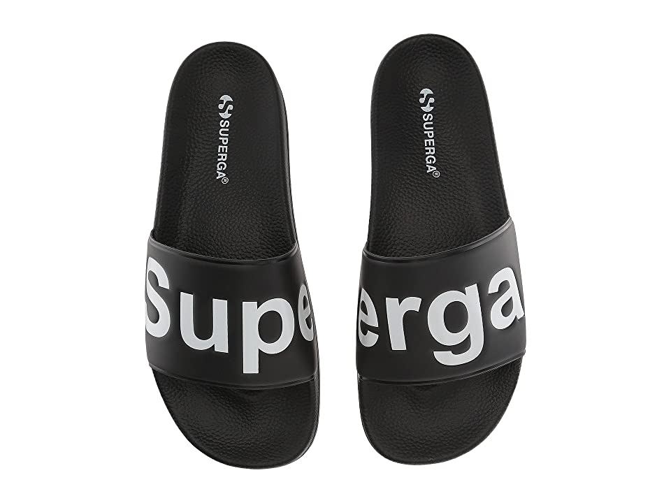 89dce4a0eae5 Superga 1908 Slides Sandal (Black White) Women s Shoes