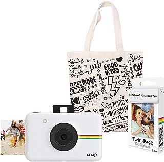 Polaroid Snap Cámara Digital instantánea (Blanco) Kit de Inicio con Bolso de Mano