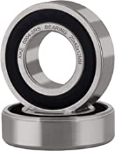 XiKe 2 Pcs 6004-2RS Double Rubber Seal Bearings 20x42x12mm, Pre-Lubricated and Stable Performance and Cost Effective, Deep Groove Ball Bearings.