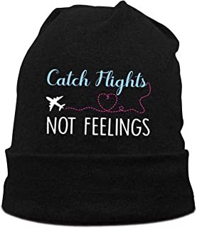 Catch Flights Not Feelings Cotton Beanie Hat for Mens Watch Caps