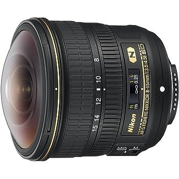 Nikon AF-S FISHEYE NIKKOR 8-15mm f/3.5-4.5E ED F/4.5-29 Fixed Zoom Camera Lens, Black