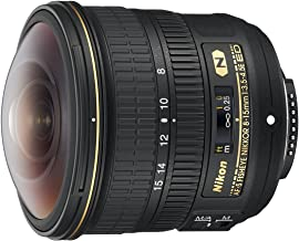 Nikon AF-S FISHEYE NIKKOR 8-15mm f/3.5-4.5E ED F/4.5-29 Fixed Zoom Camera Lens, Black