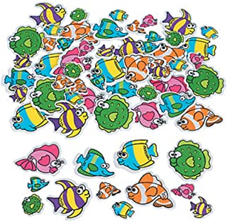 100 ~ Tropical Fish Foam Stickers / Shapes ~ Approx. 1-2