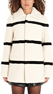 SAINT LAURENT Luxury Fashion Womens 572852Y7UW29411 White Coat | Fall Winter 19