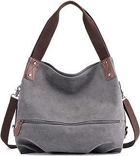 SGJFZD Women's Handbag Large-Capacity Waist Bag Messenger Bag Shoulder Bag Fashionable Messenger Bag Tote Bag Canvas Shopping Travel Laptop Bag for Ladies Wallet Storage Bag (Color : Grey)