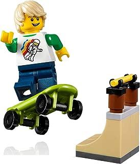 LEGO City MiniFigure: Skateboarder Boy (with Skateboard and Cool Rail) 31067