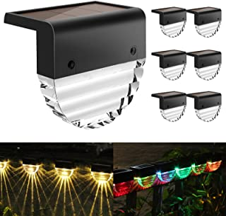 Solar Deck Lights, Solar Step Lights Outdoor Waterproof LED Solar Fence Lights for Patio, Stairs,Yard, Garden Pathway, Ste...