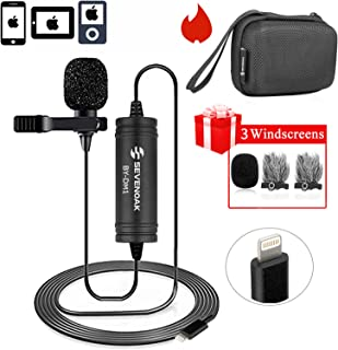Lapel Lightning Mic for iOS Devics Vlog Video, 236 ft/6m BOYA Lavalier Microphone Clip-on with iOS Interface for iPhone 10 X 8 7 Plus SE 6 6s iPad Mini iPod Touch for YouTube Vblog Podcast Micro Film